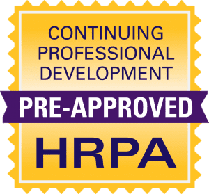 HRPA Continuing Professional Development Pre-Approved Logo
